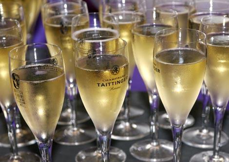 Taittinger Champagne flutes