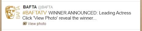 Television Awards Tweet Example - Closed