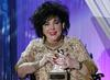 Dame Elizabeth Taylor, DBE receives the Britannia Award for Artistic Excellence in International Entertainment.