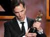 Actor Benedict Cumberbatch accepts the Britannia Award for British Artist of the Year presented by GREAT Britain Campaign