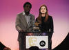 Andy Alkinwolere & Bonnie Wright present the CBBC Me and My Movie Award in 2008