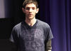 Actor Colin Morgan talks to the audience about taking on the role of Merlin (BAFTA / Jonny Birch).