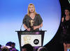 Debbie Macdonald collecting the International Award in 2008 for 'Yo Gabba Gabba'.