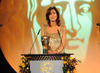 Julia Bradbury takes to the BAFTA stage to present the Award for Editing Factual.