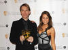 Rachel Stevens presents the BAFTA Kid's Vote Award to Jonathan Boseley for Disney's Hannah Montana.