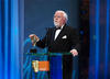 Lord Attenborough introduces the Academy Fellowship at the Orange British Academy Film Awards in 2008. 