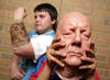 BAFTA members demonstrate make-up special effects at an after-school film club in Yorkshire. 