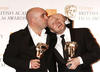 The award for Best British Film went to This is England, and was collected by ecstatic writer/director Shane Meadows and producer Mark Herbert (pic: BAFTA / Richard Kendal)