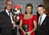 Winner of the Pre-School Live Action award for 'Bookaboo' with citation reader, Will Poulter.