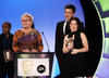 The winners collect the Pre-School Animation Award for Charlie and Lola in 2008.