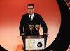 Doctor Who writer Russel T Davies presents the Special Award Award in 2008.
