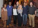 Alfre Woodard, Director Steve McQueen, Lupita Nyongo'o, Michael Fassbender, Producer Dede Gardner, Chiwetel Ejiofor and moderator.