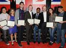 John Dion, Janine Sides, Kyle Soehngen, Jacob Braafladt, Ryan Latchmansingh, BAFTA Los Angeles Chairman Neil Stiles, Vanessa Knutsen and Julio Ramos.