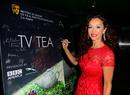 Actress Sofia Milos signs the TV party arrivals board