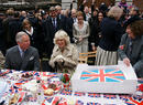 Charles and Camilla visit Piccadilly for the Jubilee Big Lunch.