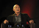 Patrick Stewart onstage at the BAFTA in Scotland Interview at the Edinburgh International Film Festival in 2010. 