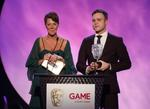 Olly Murs and Lisa Morgan - Presenters - 2009 GAME Award