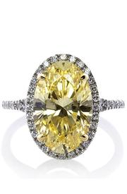 CARAT* Yellow Oval Ring