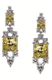 CARAT* Yellow Square Earrings
