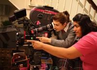 Gurinder Chadha filming Angus, Thongs And Perfect Snogging