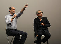 Moderator Brian Rose and Alfonso Cuarón