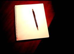 Blank pad & pen
