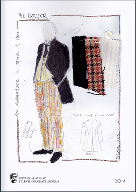 Dr Who costume sketch Brochure Cover