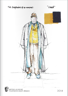 Suspicions of Mr Whitcher costume sketch Brochure Cover