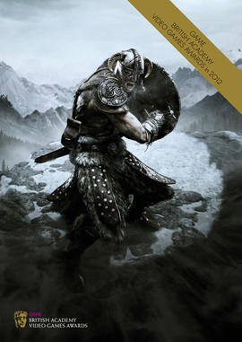 The Elder Scrolls V: Skyrim Video Games Awards brochure cover