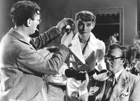 Douglas Slocombe and Audrey Hepburn