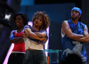 The stars of Brit film StreetDance 3D opened the show with a dazzling performance (Pic: BAFTA/ Stephen Butler)