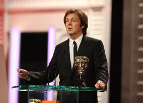 Sir Paul McCartney presented the Original Music BAFTA and joked