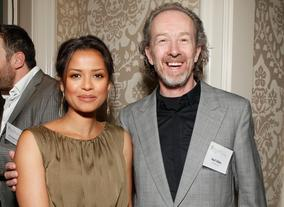 Gugu Mbatha-Raw and BAFTA Los Angeles Chairman Neil Stiles