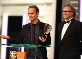 The Girl With The Dragon Tattoo producer Søren Stærmose and director Niels Arden Oplev (Pic: BAFTA/ Stephen Butler)