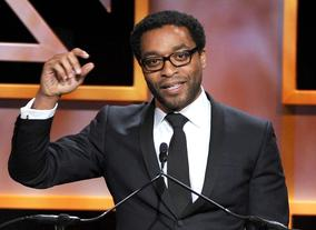 Actor Chiwetel Ejio speaks on stage during the Britannia Awards ceremony