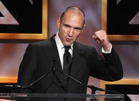 Actor Ralph Fiennes took to the stage to present Kathryn Bigelow with her Britannia Award