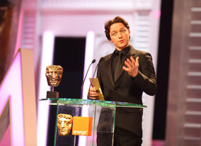 Past BAFTA nominee James McAvoy (Atonement, The Last King Of Scotland) announces the Supporting Actress winner. (Pic: BAFTA/ Stephen Butler)