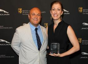Chairman Nigel Daly OBE with winner Annie Silverstein