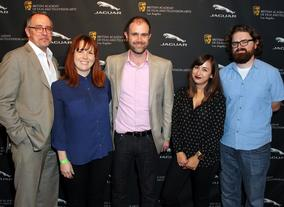 BAFTA Los Angeles staff Wayne Watkins, Lisa Ogdie, Matthew Wiseman, Rosalyn Hummell, and Ciaran Toner