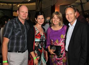 Cory Rayborn, Rebecca Nelems, Martha Nelems and British Consul General Chris O'Connor