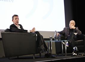 Logan was interviewed by writer and film critic Mark Salisbury. (Picture: BAFTA / J. Birch)