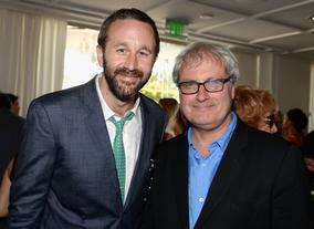 Actor Chris O'Dowd with director Simon Curtis