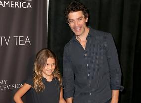 Actress Millie Brown with Actor James Frain, stars of Intruders