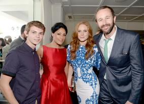 Actors Robbie Kay, Tehmina Sunny, Christiane Seidel and Chris O'Dowd