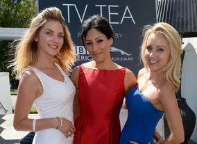 Actresses Lamorna Watts, Tehmina Sunny and Jamie Lee