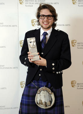 Gavin C. Robinson - Winner of the Animation Award for _Hart's Desire_.