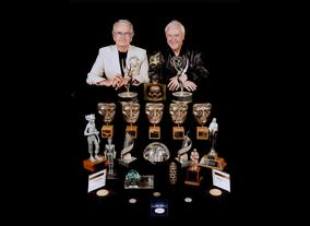 Brian Cosgrove and Mark Hall with their array of awards and achievements (including 5 BAFTA's)
