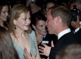 The Duke of Cambridge has a conversation with Hollywood actress Nicole Kidman