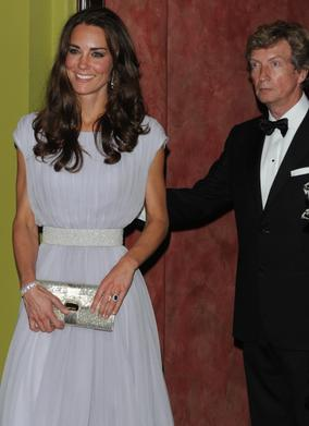 BAFTA in Los Angeles Chairman Nigel Lythgoe chaperones The Duchess of Cambridge.