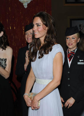 The Duchess looks on at the Royal Rota in Los Angeles.